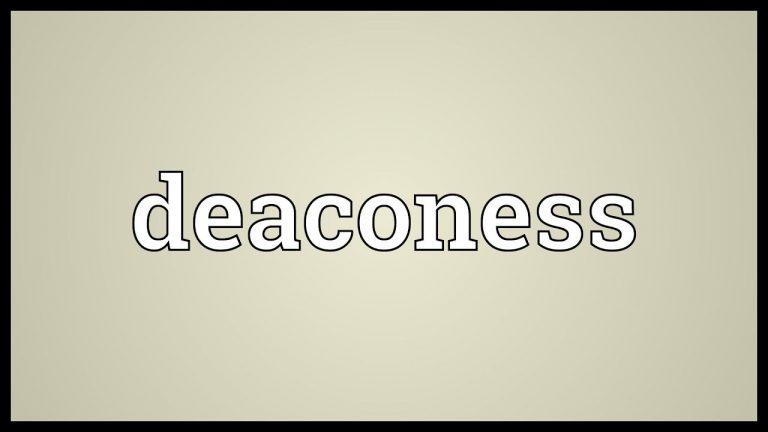 Deaconess; APA